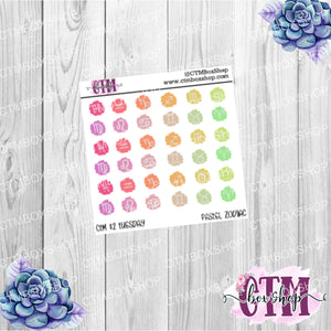 Hand Doodled Brush Zodiac Stickers, Pastel