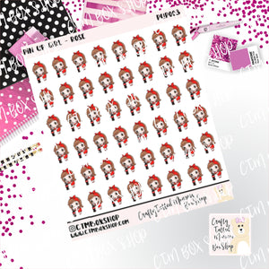 Pin Up Girl with a Coke Stickers   Character Stickers   Planner Stickers   Functional Stickers   Deco Stickers