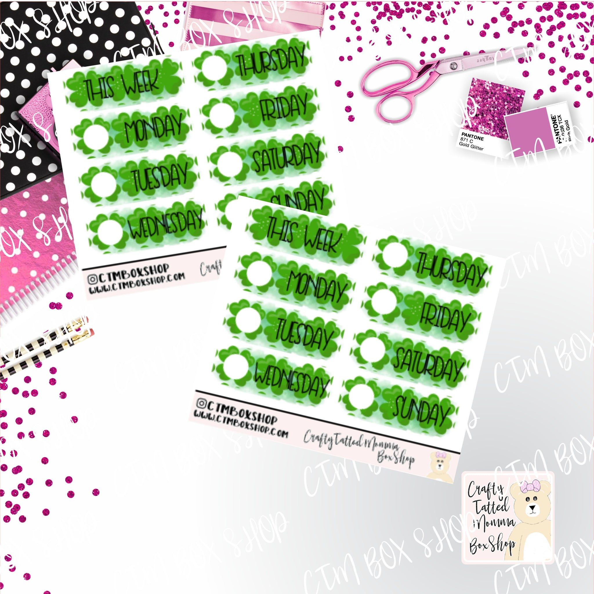 St. Patricks Day Date Covers, Fits PP Weeks, B6, EC Vertical, Classic HP Vertical