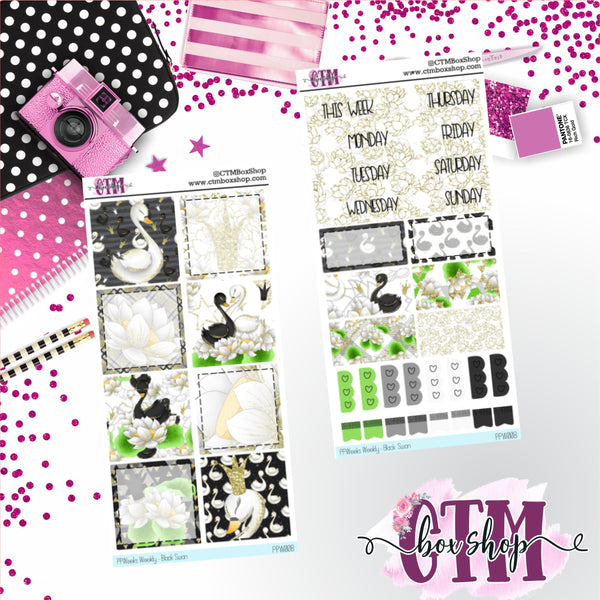 Wild Swan PP Weeks Weekly Sticker Kit   Mini Weekly Kit   Planner Sticker Kit   Weeks Planner Kit   Weekly Sticker Kit   Planner Stickers