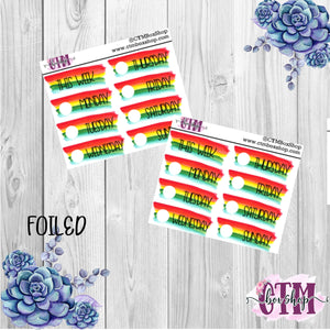Red Yellow and Green Date Covers   Date Cover Stickers   Planner Stickers   Weeks Stickers   Date Stickers