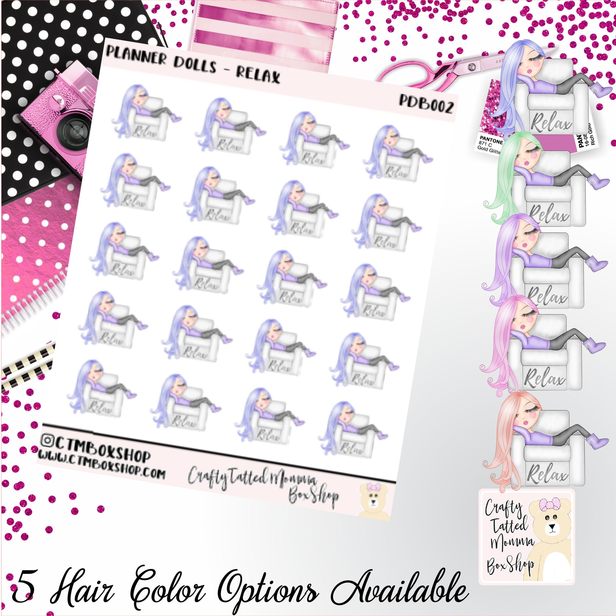 Relax Dolls Stickers   Character Stickers   Planner Stickers   Functional Stickers   Deco Stickers