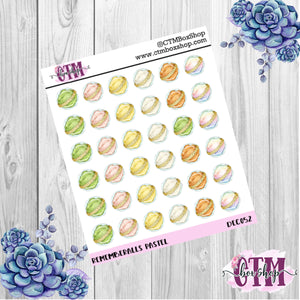 Pastel Rememberall Deco Stickers   Rememberalls  Stickers Planner Stickers    Stickers   Deco Stickers