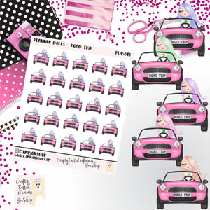 Road Trip Dolls Stickers   Character Stickers   Planner Stickers   Functional Stickers   Deco Stickers