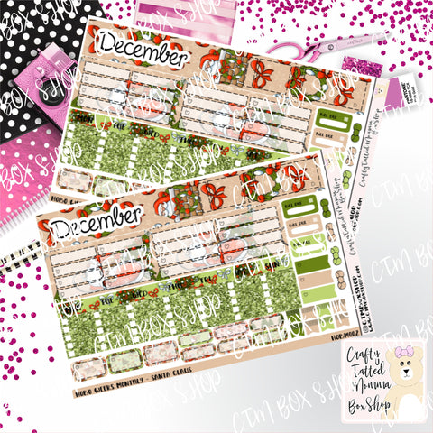 Santa Hobonichi Monthly Sticker Kit   Monthly Sticker kit   Hobonichi Weeks   Hobonichi Stickers    Sticker Kit   Monthly View