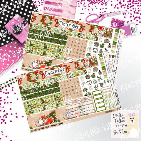 Santa PP Weeks Monthly Sticker Kit   Choose your month   Monthly Sticker kit   PP Weeks   Planner Stickers    Sticker Kit