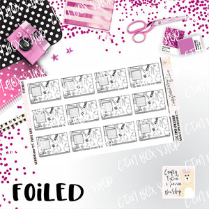 Foiled Scrapbooking Flat Lay Planner Stickers  / Scrapbooking Stickers / Foiled Stickers / Planner Stickers / Flat Lay Stickers