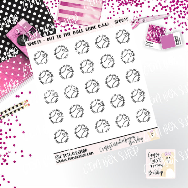 Take Me Out to the Ballgame Stickers   Baseball Stickers    Planner Stickers     Stickers   Deco Stickers Functional Stickers