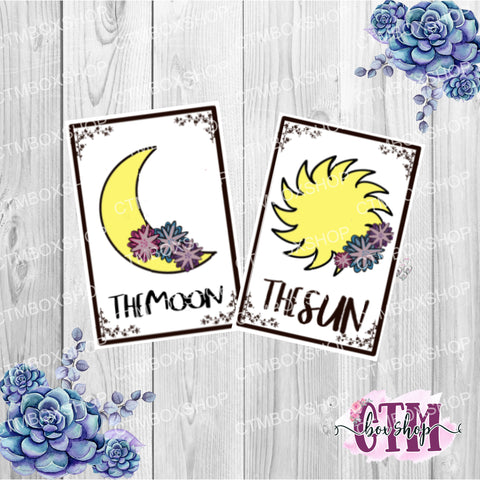 Hand Doodled Tarot Card Die Cut or Sticker set