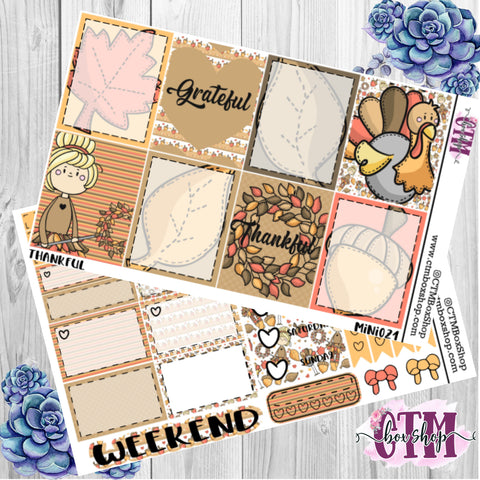 Thankful Mini Weekly Kit, Planner weekly kit, B6 Kit, Planner kit, Planner Stickers
