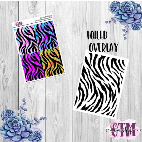 Tiger Foiled Header Stickers, foiled stickers, header stickers, planner stickers, Travelers Notbook stickers, Planner Headers