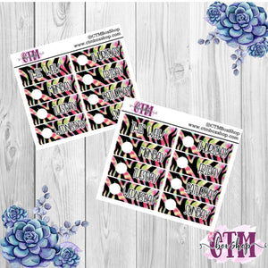 Purple/Green Tiger Date Covers   Date Cover Stickers   Planner Stickers   Weeks Stickers   Date Stickers