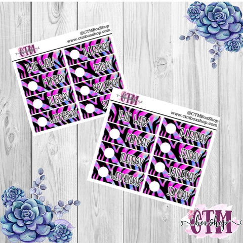 Purple Tiger Date Covers   Date Cover Stickers   Planner Stickers   Weeks Stickers   Date Stickers