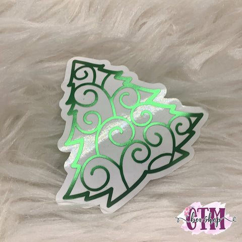 Foiled Tree Vinyl Sticker