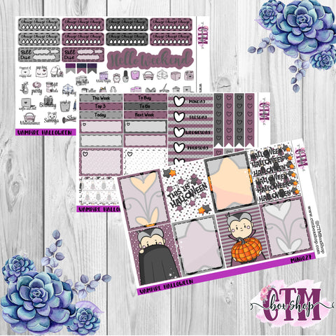 Vampy Halloween Mini Weekly Kit