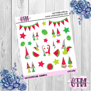 Watermelon Gnomes Deco Stickers