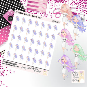 Work Dolls Stickers   Character Stickers   Planner Stickers   Functional Stickers   Deco Stickers