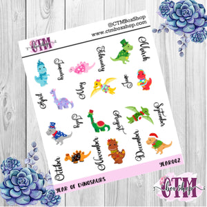 Year of Dragons deco stickers, deco stickers, rainbow stickers, planner stickers