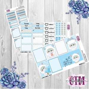 Yeti Mini Weekly Planner Sticker Kit