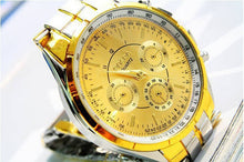 Laden Sie das Bild in den Galerie-Viewer, Luxury Watch With Roman Numerals & Metal Analog Quartz