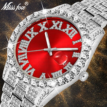 Cargar imagen en el visor de la galería, Diamond Red  Luxury 18K Gold Watch For Men