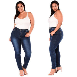 High Waist Jeans For Plus Size Woman - AMDZ TRENDS