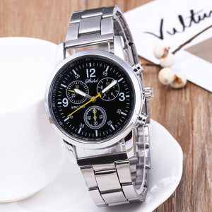 Men's Fashion Quartz Analog Wristwatch Steel Band Watch Fashion - AMDZ TRENDS