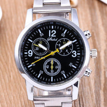 将图片加载到图库查看器,Men's Fashion Quartz Analog Wristwatch Steel Band Watch Fashion - AMDZ TRENDS