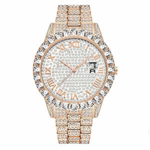 Diamond Red  Luxury 18K Gold Watch For Men
