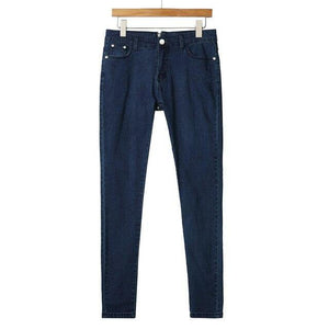 Back Zipper Pencil Stretch Denim Jeans With High Waist - AMDZ TRENDS