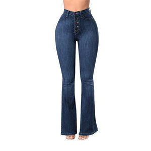 Elastic Plus Loose Denim  High Waist Jeans - AMDZ TRENDS