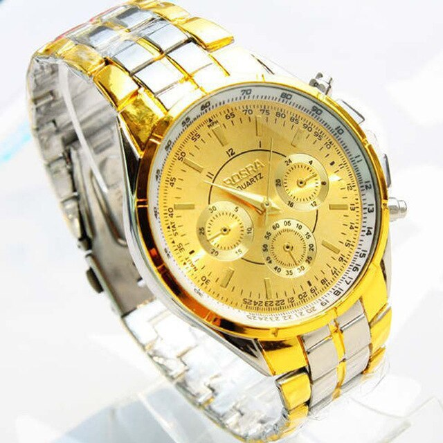 Luxury Watch With Roman Numerals & Metal Analog Quartz