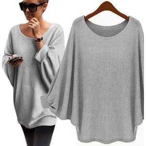 Loose Sweaters With Solid Round Neck & Pullover - AMDZ TRENDS