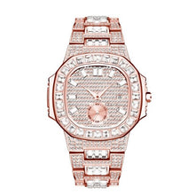 Laden Sie das Bild in den Galerie-Viewer, Chronograph Two Tone Gold Diamond Male Wrist Watch