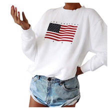 Charger l'image dans la galerie, American Flag Sweatshirts For Women