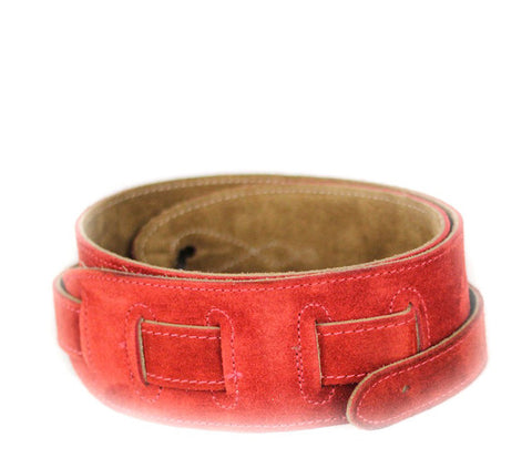 Leathergraft Reversible Red Suede