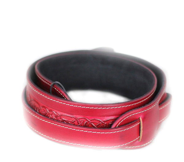 Leathergraft Embossed Red Leather