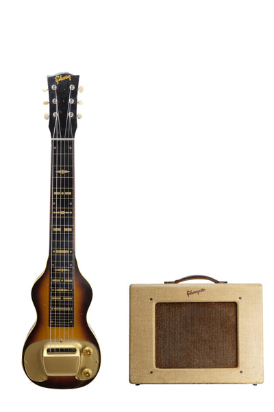 1956 Gibson B6 and Gibsonette amplifier