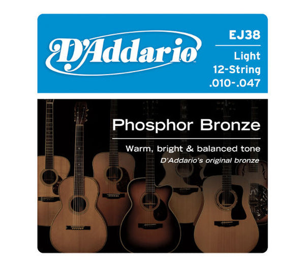 D'Addario EJ38 Light 12 String