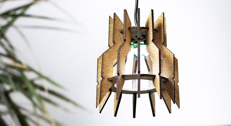 How To Make  A Sustainable Lampshade With Cork