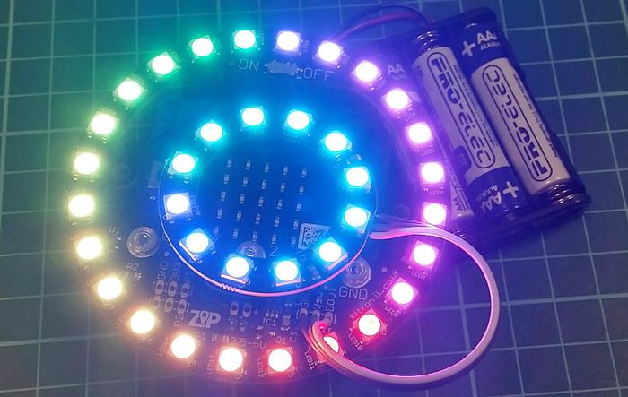 Adding Extra ZIP LEDs To The Kitronik Halo