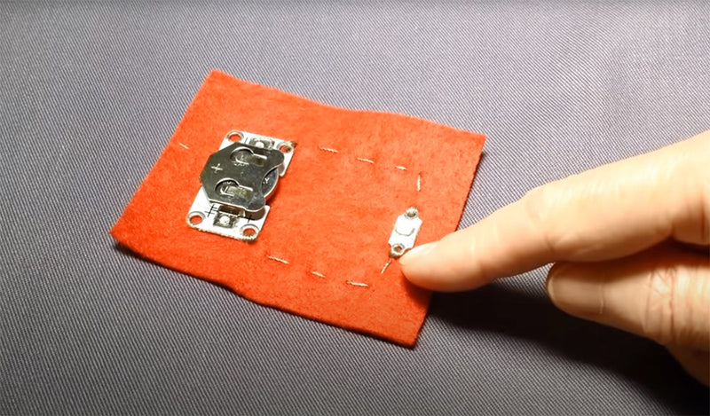 Getting Started with E-Textiles: Basic Circuit with a PCB LED featured image
