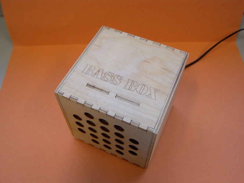 Gallery 'Bass Box' Laser Cut from Plywood - Hardenhuish High
