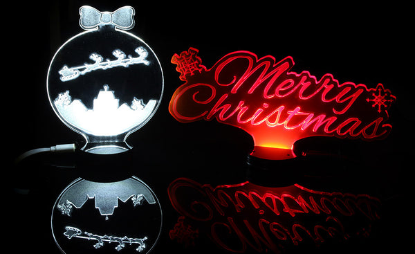 Laser Cut Edge Lit Signs For Christmas 2020 hero image
