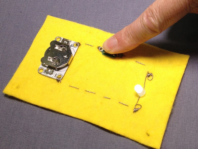 Getting Started with E-Textiles: Adding Switches to a Circuit