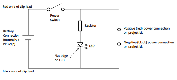 Adding a Power Supply and LED to your Project Kit