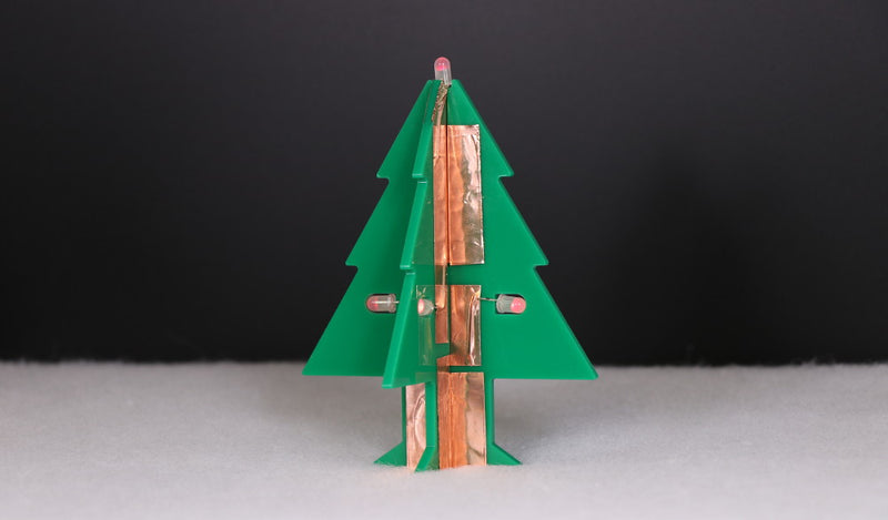 Day 4 - Copper Tape LED Christmas Tree