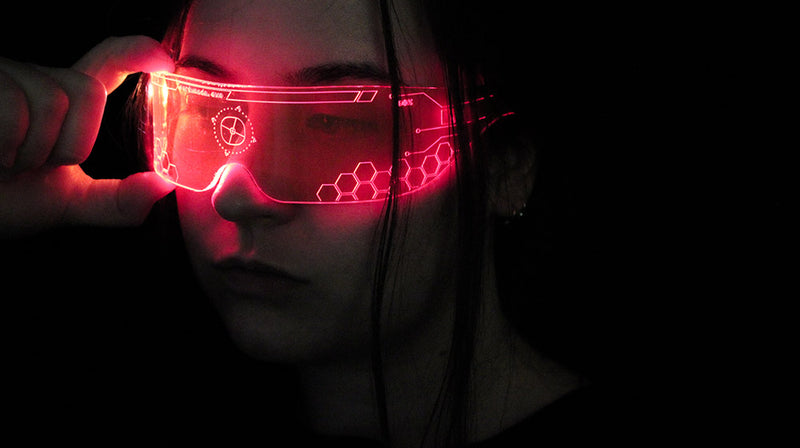 Laser Cut Perspex Cyber Visor For Halloween 2020 main