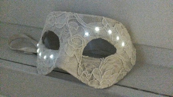 Masquerade in bright white LEDs