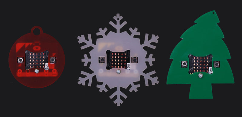 MI:power microbit Christmas Baubles